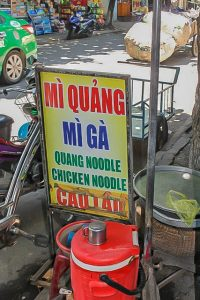 Thai Phien Street Hoi An Mi Quang sign