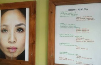 mai mai dep, permanant makeup in hoi an, as well as tatoo and cosmetics