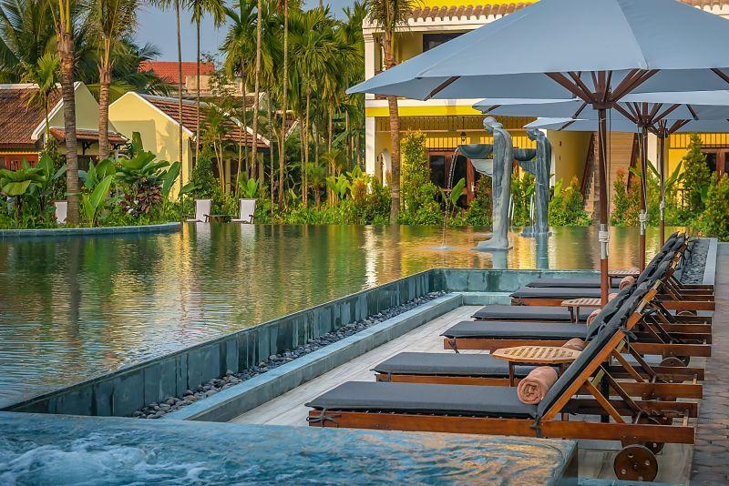 La Siesta, pool chairs, Hoi An Hotels