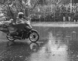 Hoi An's Rainy Season. Motorbike 2