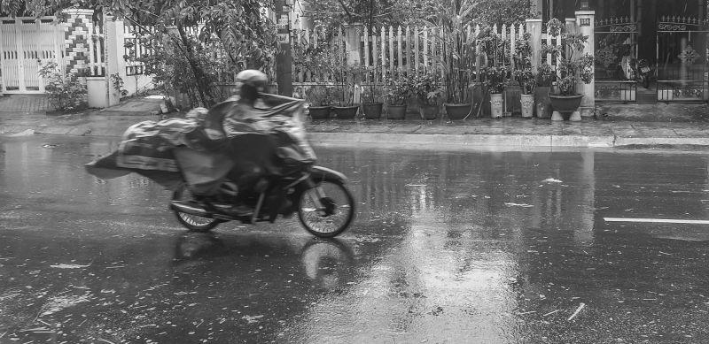Hoi An's Rainy Season. Motorbike 2