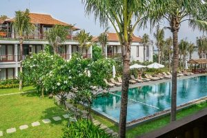 Vinh Hung Hotel Hoi An external with pool. Hotels in Hoi An