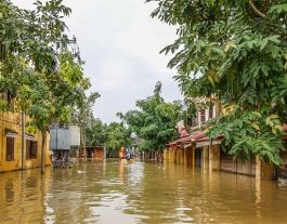 Floods in Hoi An: 2016. Flooded street