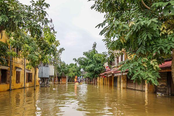 Floods in Hoi An: 2016. Flooded street