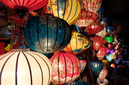 lantern festival, night market, night, street, lanterns, full moon