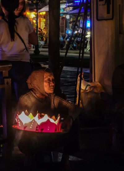 night, street, lantern festival, full moon, lantern