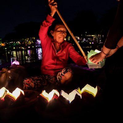night, street, lantern festival, full moon, lantern sellers