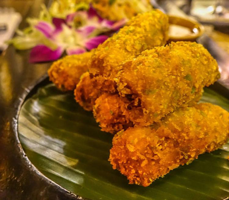 Home Hoi An Restaurant. Duck Spring Rolls