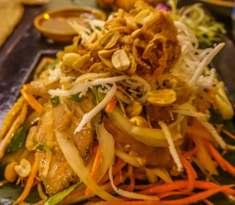 Home Hoi An Restaurant. Duck salad