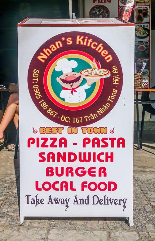 Nhan's Kichen. Sign