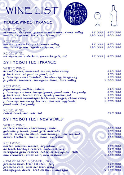 H'Mong Sisters Delivery menu Page 5