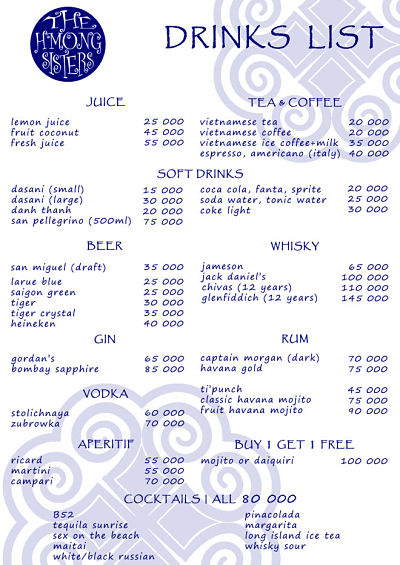 H'Mong Sisters Delivery menu Page 6