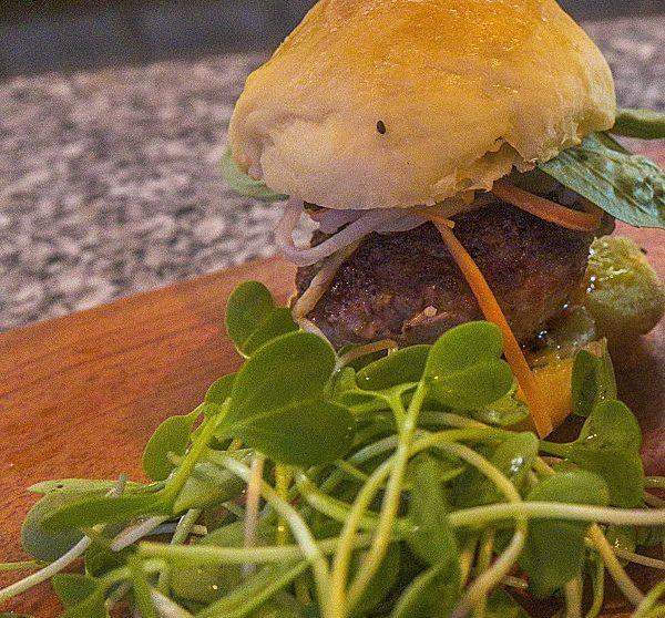 The Happy Buffalo._Mini beef and pork burger