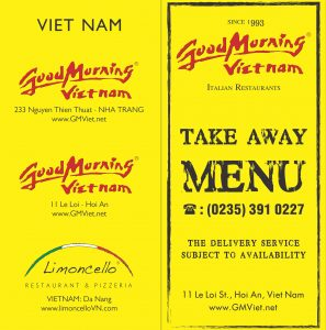 Good morning Vietnam Delivery Menu, Hoi An