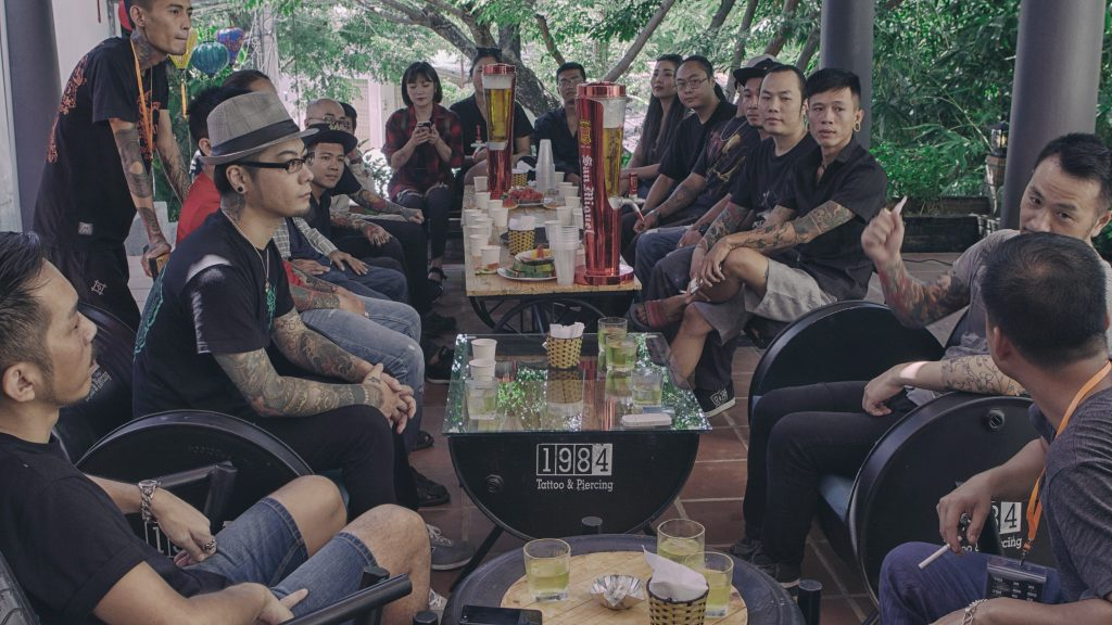 1984 Tattoo & Piercing Hoi An staff gathering