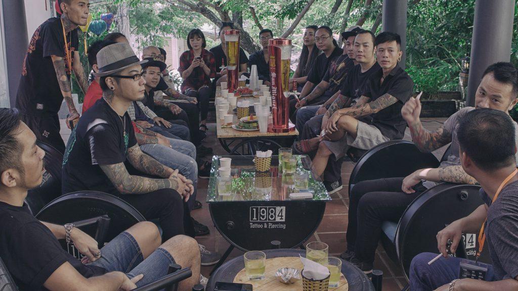 1984 Tattoo & Piercing Hoi An staff gathering