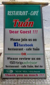 RESTAURANT & CAFE TUAN sign 1