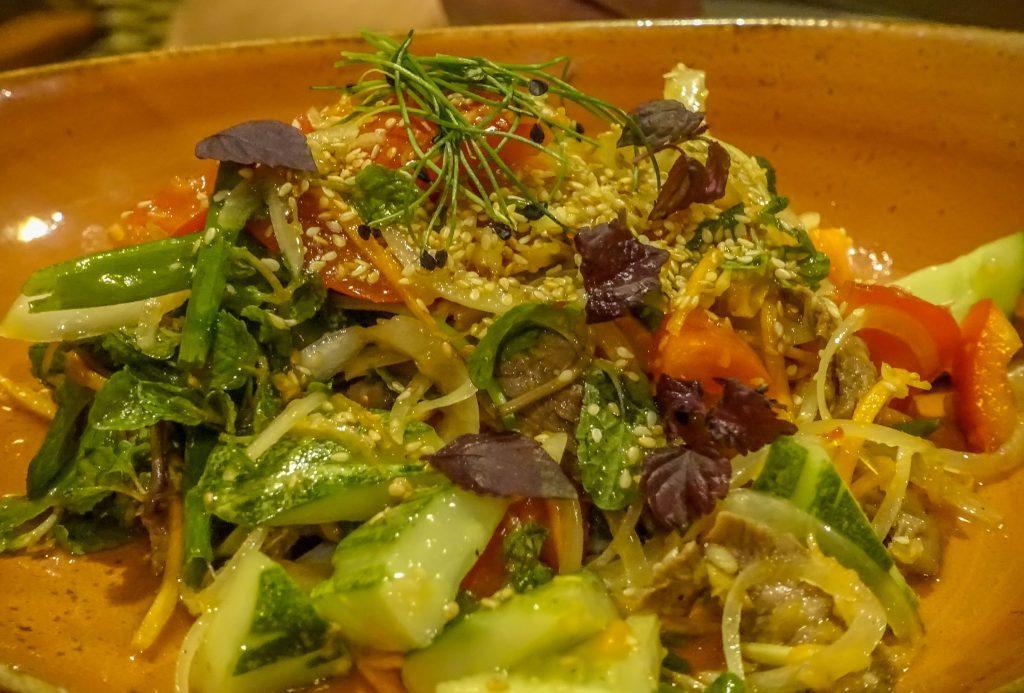 Hoi An Riverside restaurant. Beef Salad
