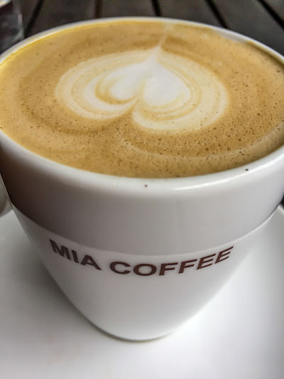 Mia Coffee. Flat white