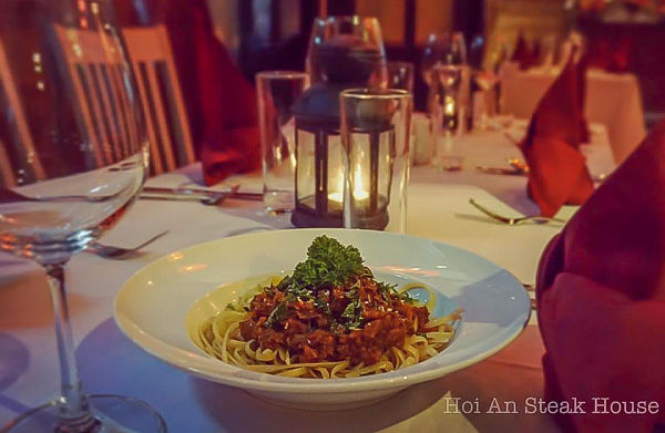 Hoi An Steakhouse. Pasta