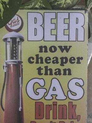 The Filling Station. Beer sign