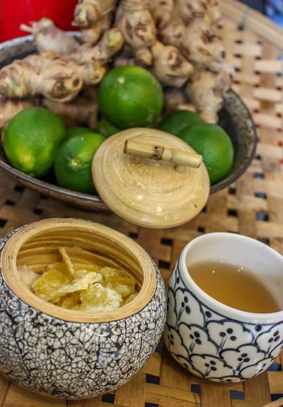 White Rose Spa., Hoi An. Ginger Tea