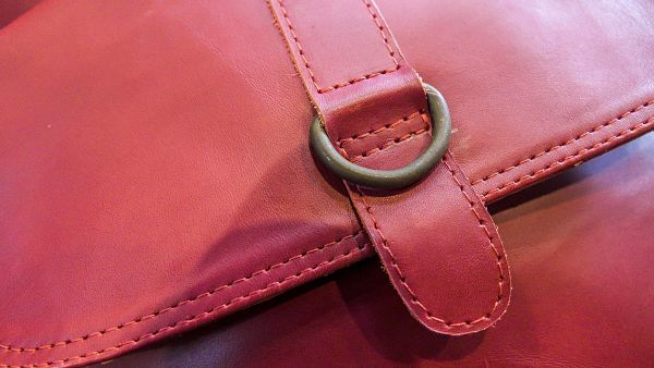Real Leather Bag (red)