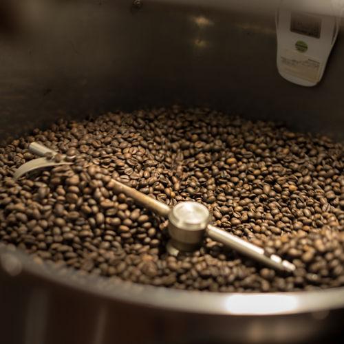 Hoi An Cafes. Hoi An Roastery. Coffee grinder, Vietnam