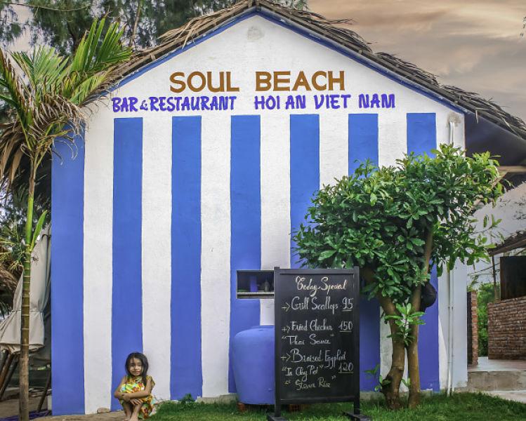Soul Beach Hoi An external. Bars. restaurants