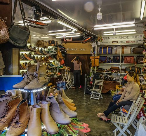 In among the designer clothes are a scattering of female boots, sandals and heels. They stock a variety of sizes, but for no extra cost, they will make one of their designs to your measurements. It is an interesting combination of off-the-shelf and handmade shoes. The choices are limited, in both design and material, but you will be able to see and inspect samples before you order a pair. Ideally they will have a pair in store that you can put on and happily walk out in.