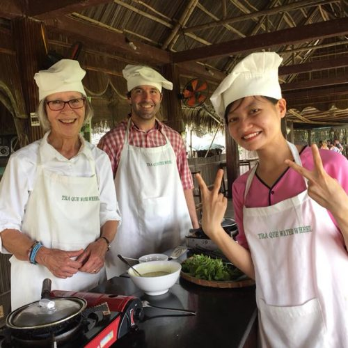 tra que waterwheel organic farm cooking class