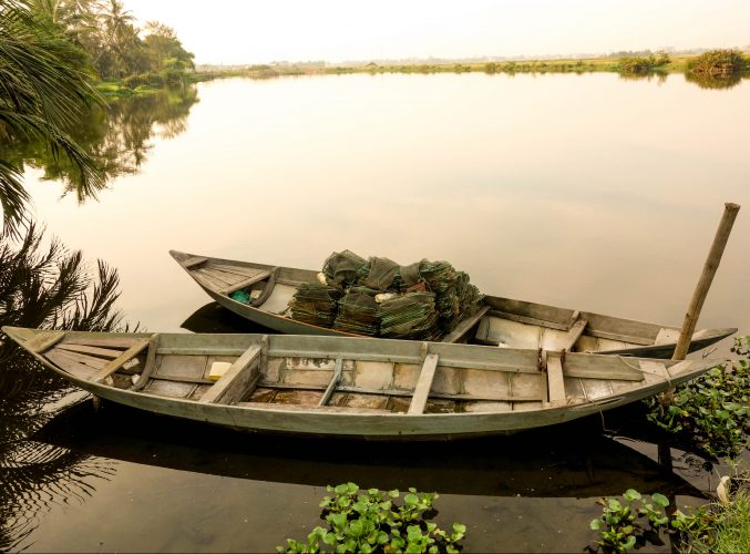 basket boats hoi an, nipa palms, coconut village, tours hoi an, da nang, vietnam