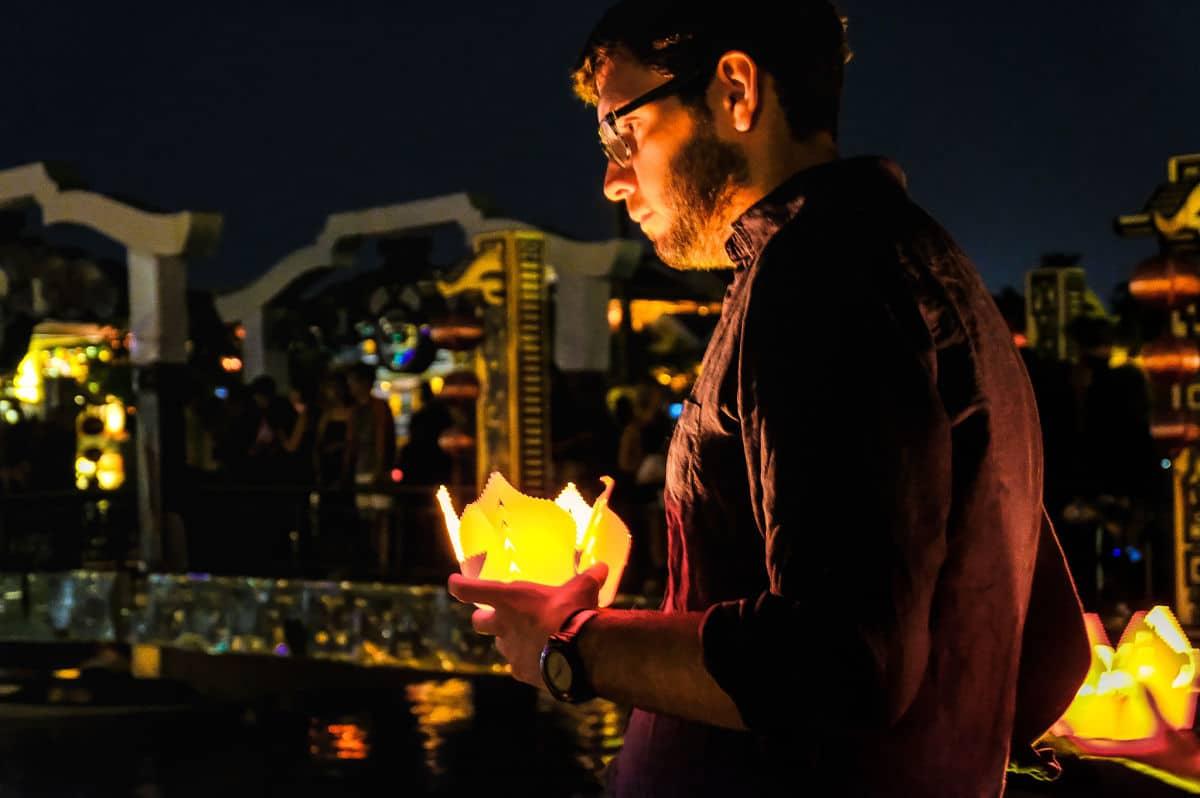 Fullmoon festival hoi an, hoi an full moon, wish candles, thu bon river, hoi an