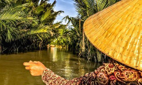 basket boat hoi an, nipa palms coconut village, tours, do Hoi An, vietnam