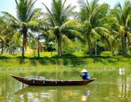 Thu Bon River, Hoi An; boats Hoi An