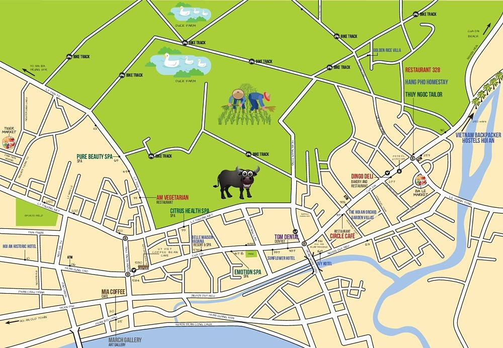 Maps, Middle Cua Dai Road