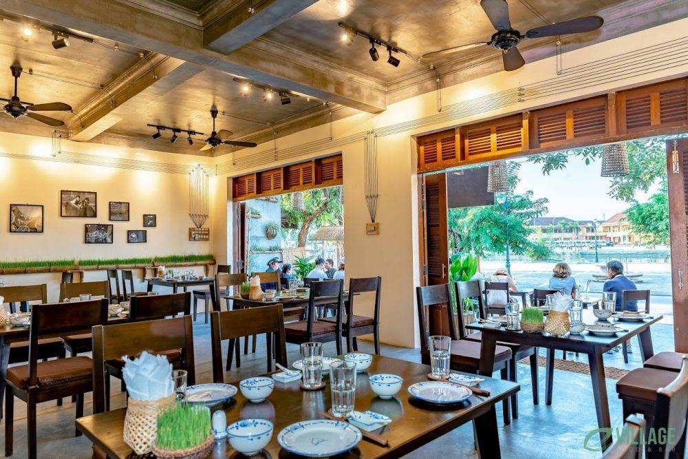 E Village Restaurant Preview. Dining Setting 2.Hoi An Restaurant.