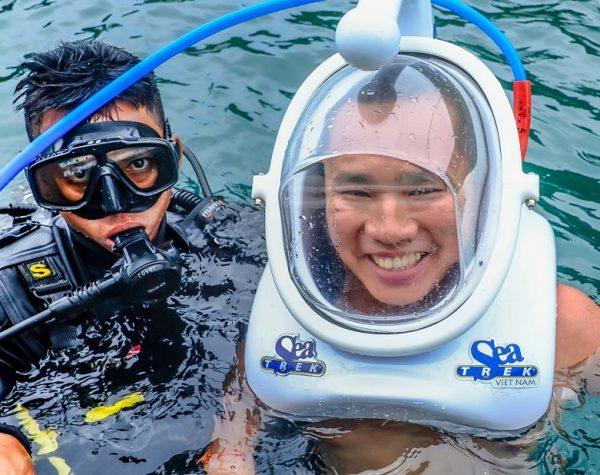 Sea Trek Vietnam REVIEW. Diving helmet