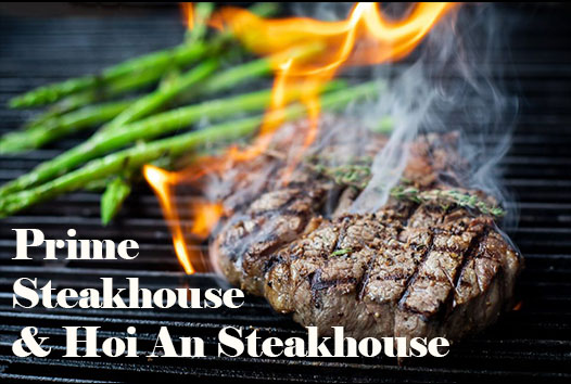 Hoi An restaurants. Prime Steakhouse and Hoi An Steakhouse